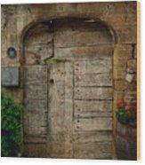 Door To The Secret Garden Wood Print
