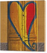 Door With Heart Wood Print by Joana Kruse