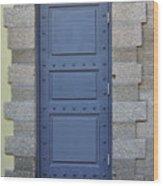 Door With No Handle Wood Print