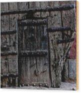 Door Within A Door Wood Print