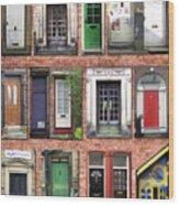 Doors Of England I Wood Print