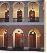 Doors Of San Juan Square Wood Print