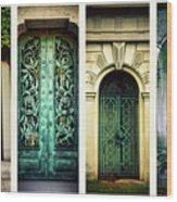 Doors Of Woodlawn Wood Print