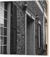 Doorway Black And White Wood Print