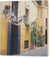 Doorway In Rome Wood Print