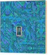 Doorway Into Multi-layers Of Water Art Collage Wood Print