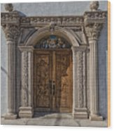 Doorway Of The Santa Teresa De Jesus Church Wood Print