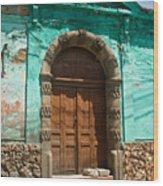 Doorway Quezaltenango Guatemala 1 Wood Print
