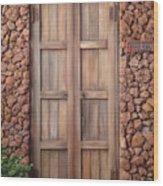 Doorway Steps Back In Time Wood Print
