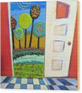 Doorway To Somewhere Wood Print
