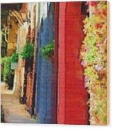 Doorways On Queen Street Wood Print