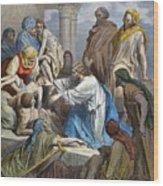 Dor�: Jesus Healing Sick Wood Print