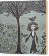 Ninas Garden Wood Print