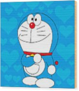 Doraemon Wood Print