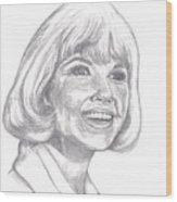 Doris Day  Wood Print by Carol Wisniewski