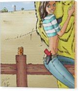 Dorothy In Kansas Wood Print