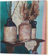 Dorothy's Pots Wood Print