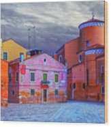 Dorsoduro Colors Under The Clouds 2 Wood Print