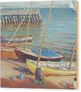 Dory Beach Wood Print