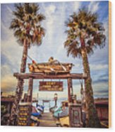 Dory Fishing Fleet Market Picture Newport Beach Wood Print by Paul Velgos