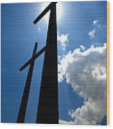 Dos Cruces Wood Print