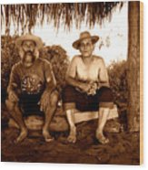 Dos Hombres Wood Print