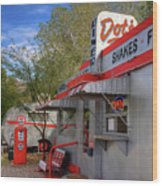 Dot's Diner In Bisbee Wood Print