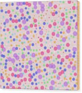 Dots On Pink Background Wood Print
