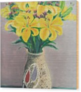 Dotted Vase Wood Print