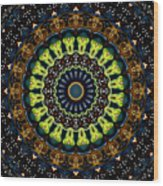 Dotted Wishes No. 3 Kaleidoscope Wood Print
