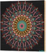 Dotted Wishes No. 4 Mandala Wood Print