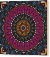 Dotted Wishes No. 5 Kaleidoscope Wood Print