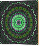 Dotted Wishes No. 6 Kaleidoscope Wood Print