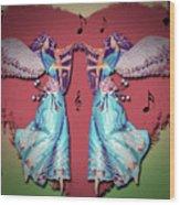 Double Angel Wood Print