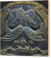 Double Angel Memorial Wood Print