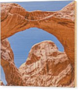 Double Arch At Arches National Park Wood Print