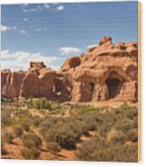 Double Arch Famous Landmark In Arches National Park Utah Wood Print