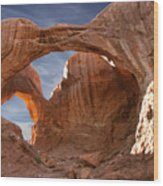 Double Arch In Late Afternoon Wood Print