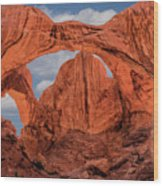 Double Arches At Arches National Park Wood Print