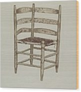 Double Back Chair Wood Print