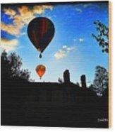Double Balloons  Wood Print
