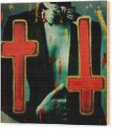 Double Cross La Femme Wood Print