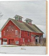 Double Cupola Barn Wood Print