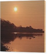 Double Dawn Wood Print