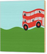 Double Decker Bus Wood Print