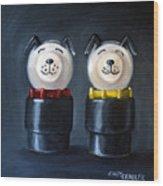 Double Dog Dare Wood Print