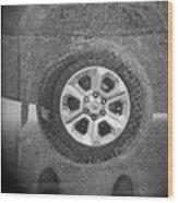 Double Exposure Manhole Cover Tire Holga Photography Wood Print