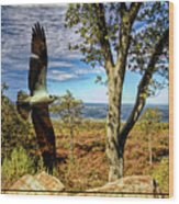 Double Exposure Osprey And High Point Nj Wood Print