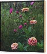 Double Framed Floral Wood Print