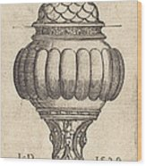 Double Goblet With Oval Decorations Wood Print